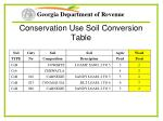 conservation use soil conversion table