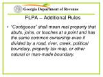 flpa additional rules