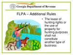 flpa additional rules36