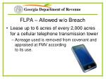 flpa allowed w o breach48