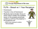 flpa breach w 1 year recapture