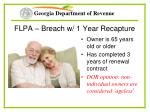 flpa breach w 1 year recapture53