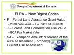 flpa new digest codes