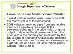 forest land fair market value verbatim
