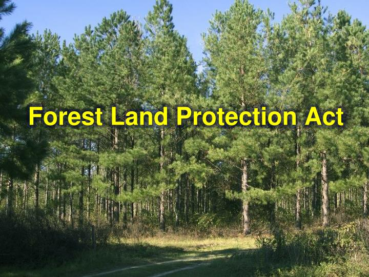 forest land protection act n.