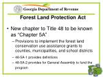 forest land protection act61