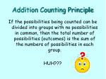addition counting principle