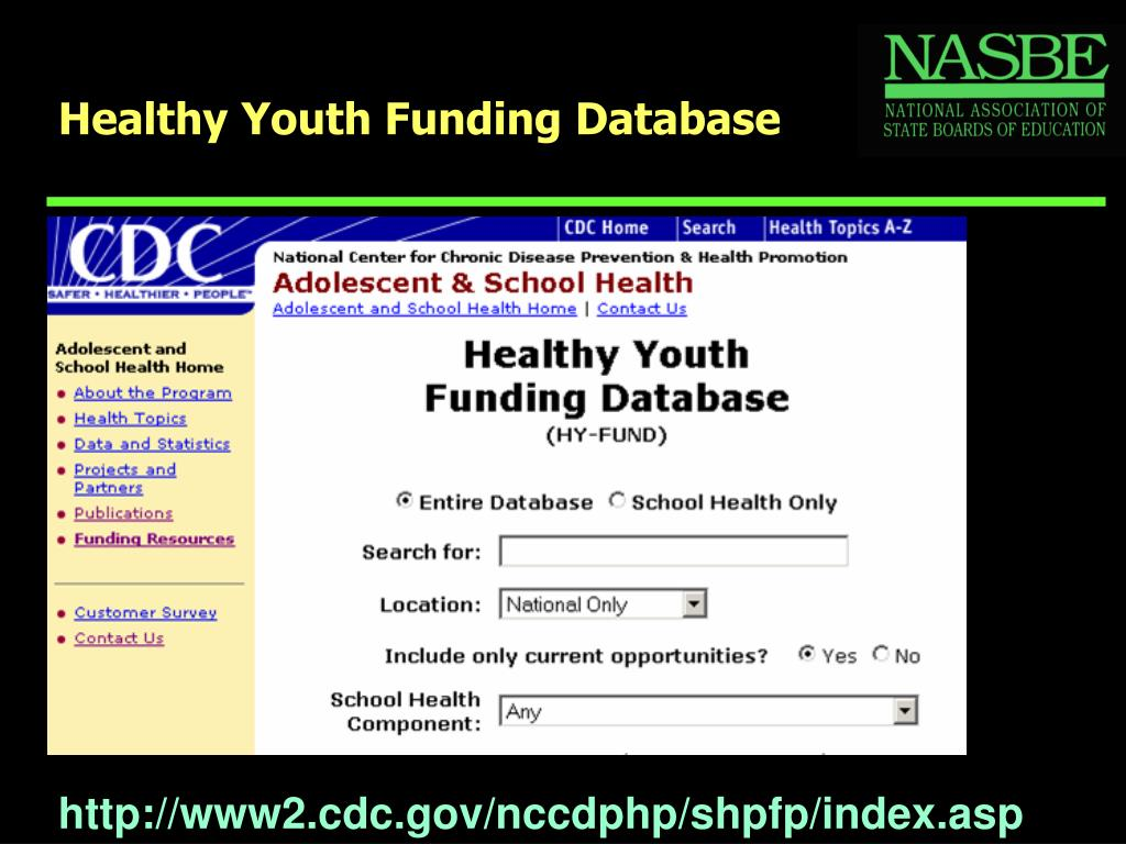 Healthy Youth Funding Database