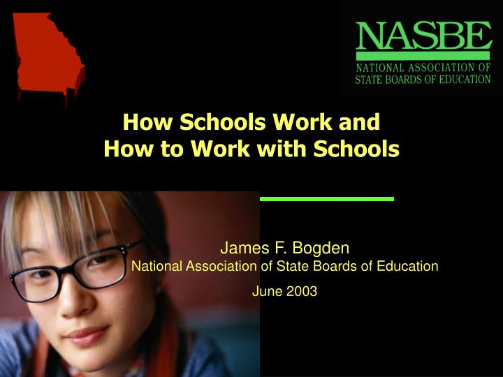 How schools work and how to work with schools
