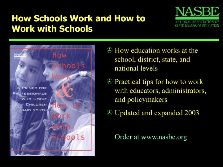 How schools work and how to work with schools3