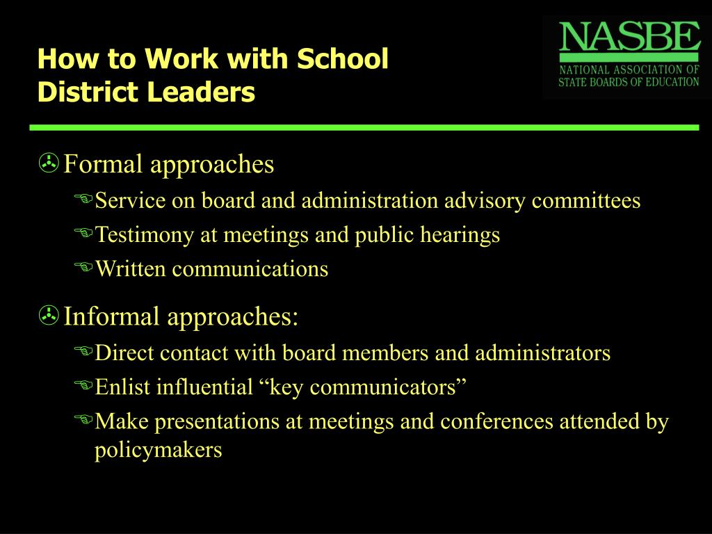 How to Work with School District Leaders