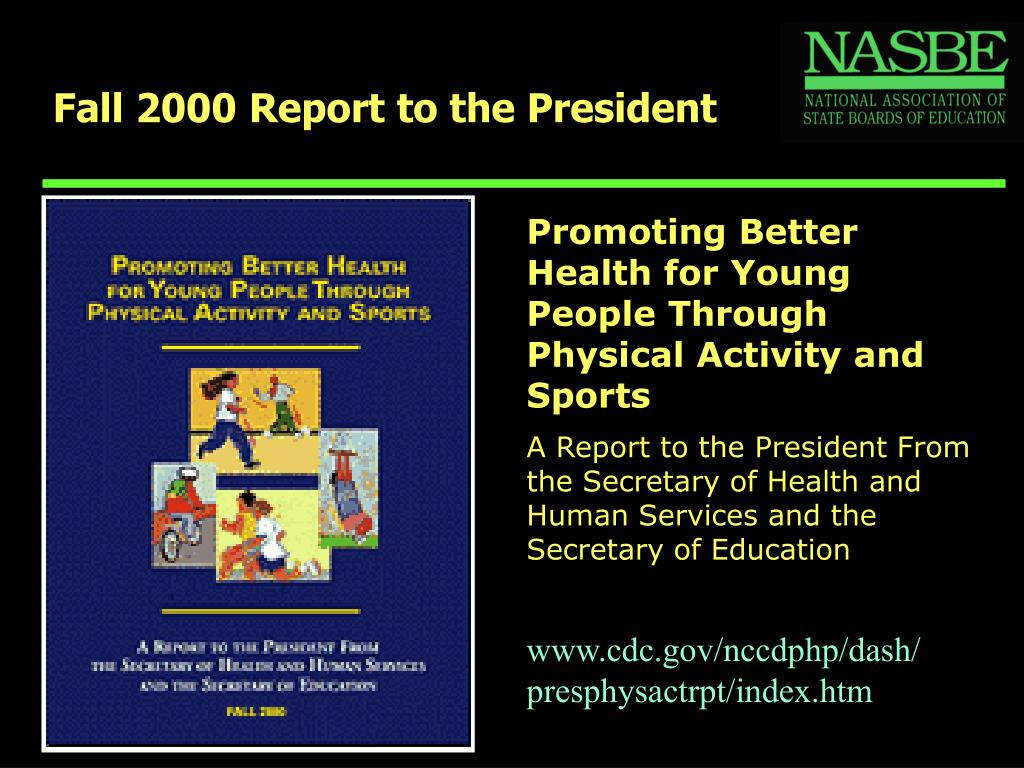 Fall 2000 Report to the President
