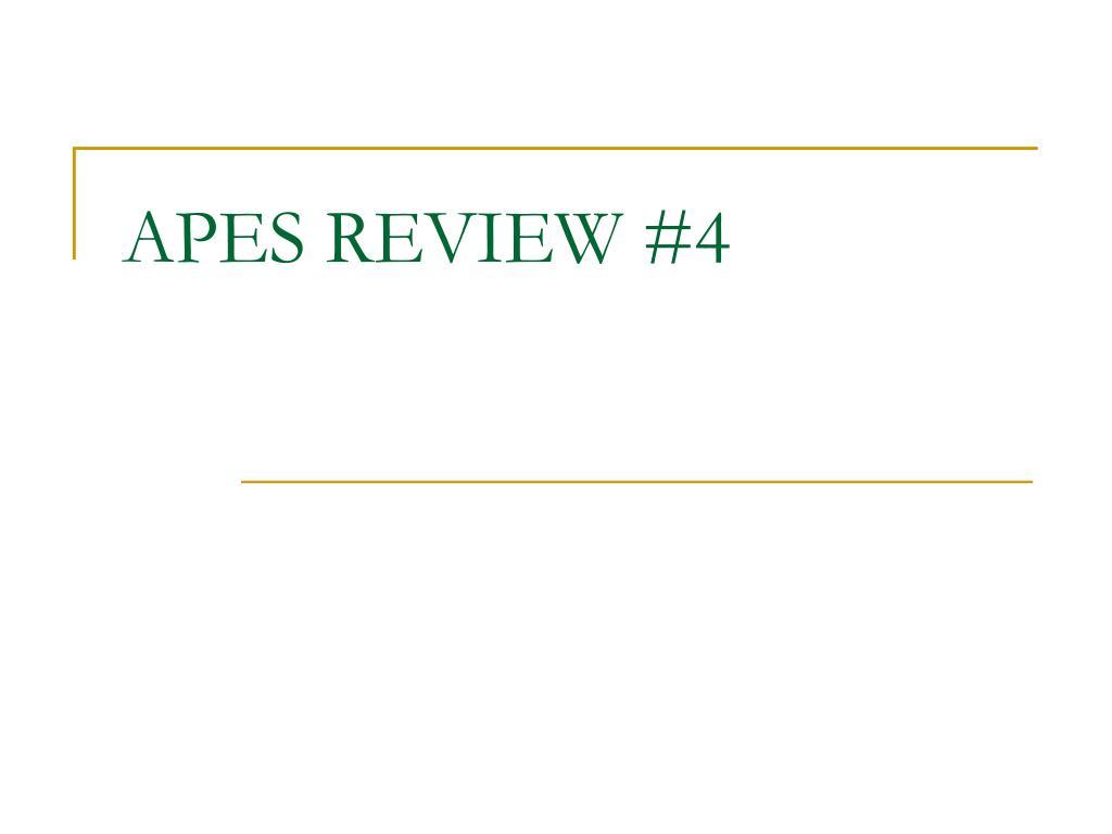 apes review 4 l.