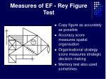 measures of ef rey figure test
