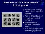 measures of ef self ordered pointing task