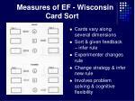 measures of ef wisconsin card sort