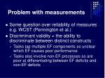 problem with measurements