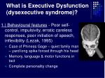 what is executive dysfunction dysexecutive syndrome