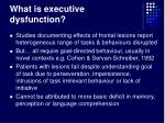 what is executive dysfunction16