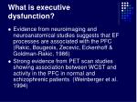 what is executive dysfunction17