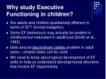 why study executive functioning in children