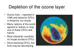 depletion of the ozone layer19