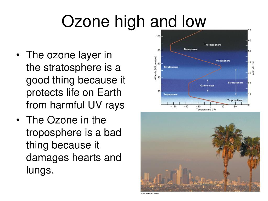 Ozone high and low