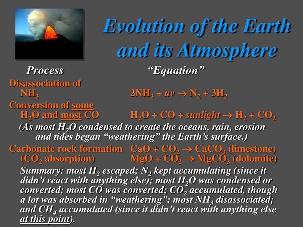 evolution of the earths atmosphere