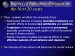 impact of infectious diseases in the next 20 years
