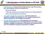 1 fleet operations to achieve mission in c2f aor