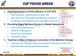 c2f focus areas