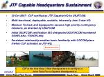 jtf capable headquarters sustainment
