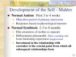 development of the self mahler