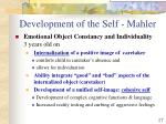 development of the self mahler17