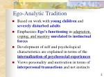 ego analytic tradition