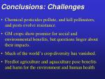 conclusions challenges