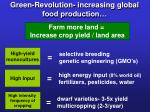 green revolution increasing global food production