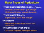major types of agriculture