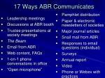 17 ways abr communicates