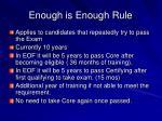 enough is enough rule