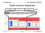 frame structure superframe