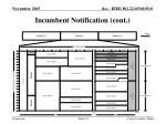 incumbent notification cont