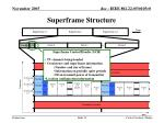 superframe structure