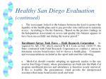 healthy san diego evaluation continued