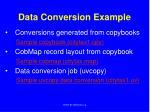 data conversion example