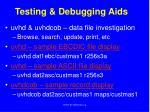 testing debugging aids