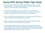 some nys school math fast facts