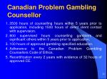 canadian problem gambling counsellor