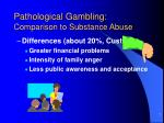 pathological gambling comparison to substance abuse7