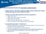 review of ccsds authentication and encryption recommendations14